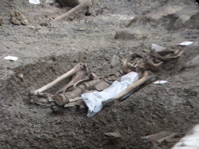 L'un des squelettes exhumés lors des fouilles de l'Inrap début 2015...