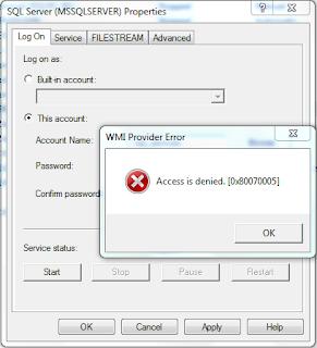SQL Server: SQL Server services not starting  TDSSNIClient