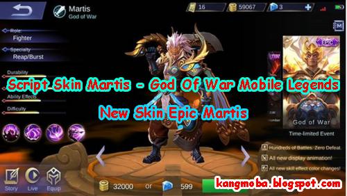 Download Script Skin Martis - God Of War Mobile Legends Oktober 2018