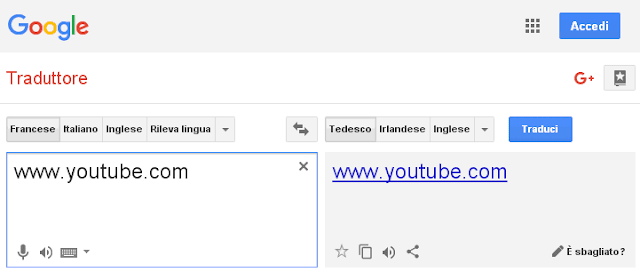 Google Traduttore come proxy