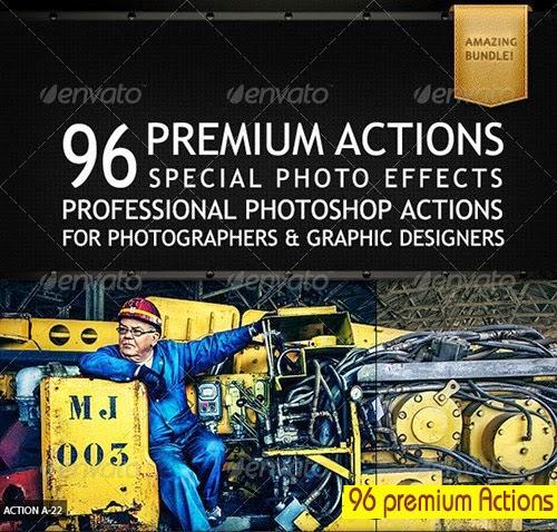 GraphicRiver 96 Premium Actions