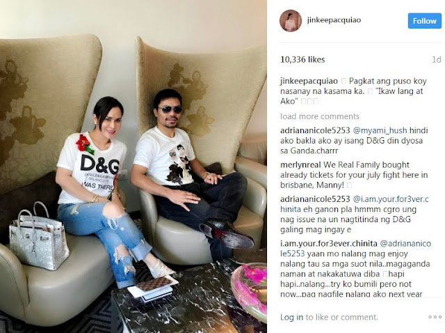 Jinkee Pacquiao Shows off Her Authentic and Super Expensive Dolce & Gabbana T-Shirt in Australia!
