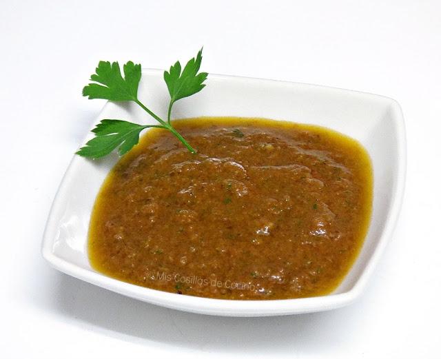 Vinagreta de tomates secos en aceite