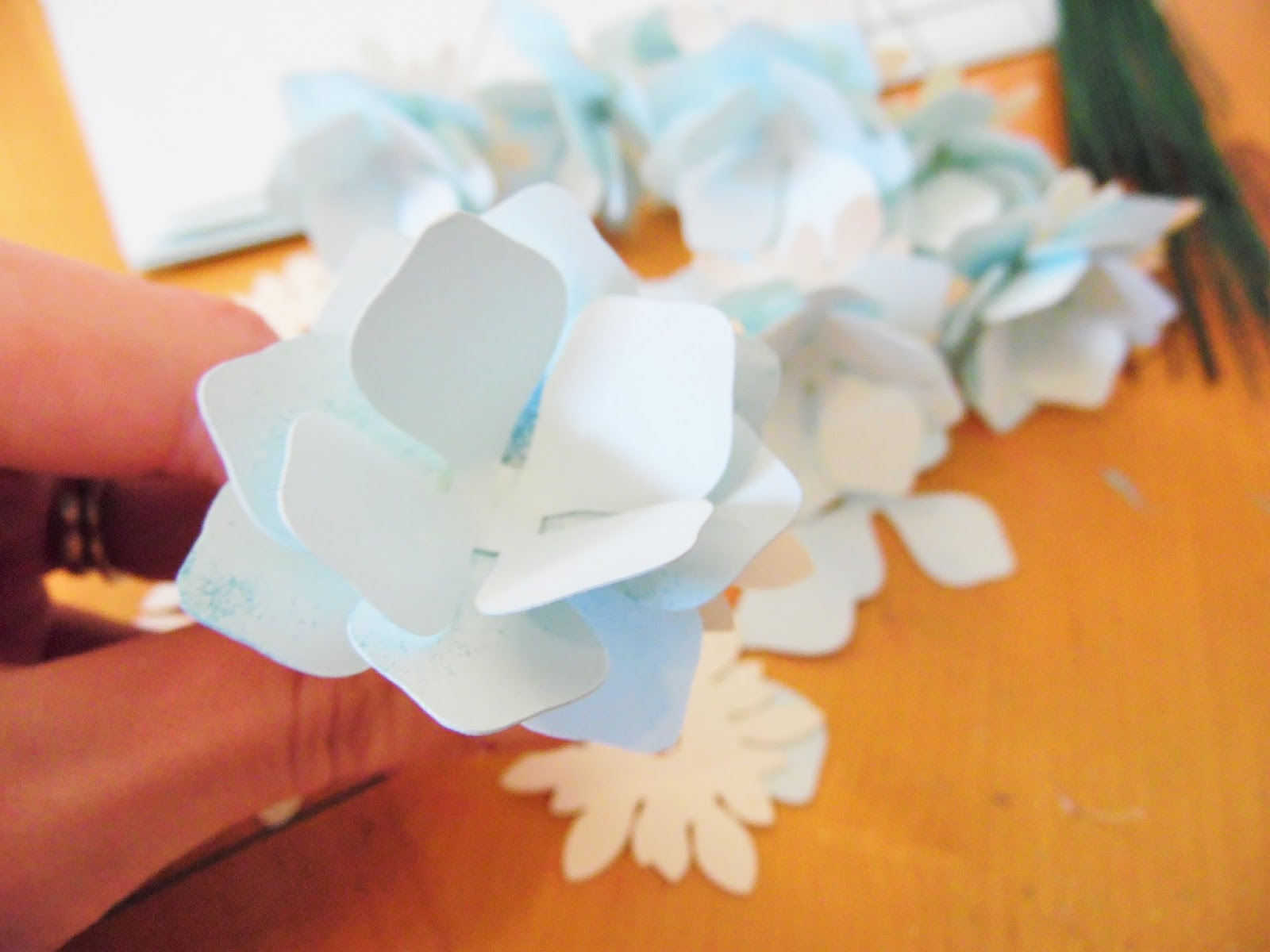 Paper flower hydrangeas flower templates printable patterns you will build 3 layers for 1 bud alternating petals mightylinksfo
