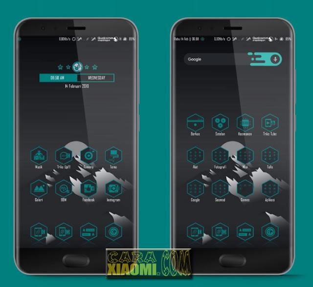 Screenshoot MIUI Theme Trikster Green Mtz For Xiaomi V9 Theme by Ryan Setyawan