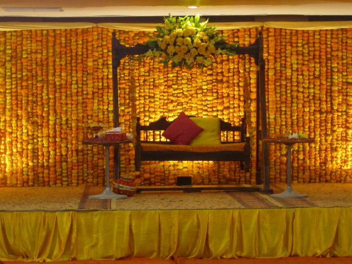 Stage Decoration For Mehndi Function Mehndi Dresses