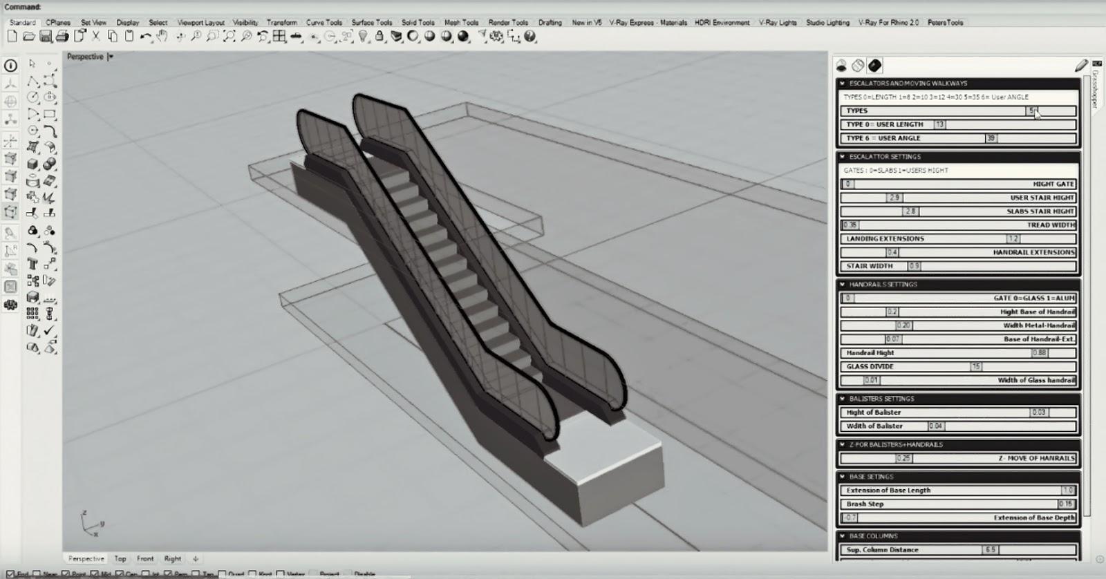 Parametric Escalators + Moving Walkways | Parabolic Design