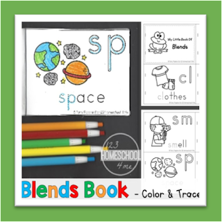 blends book - color, trace, and learn