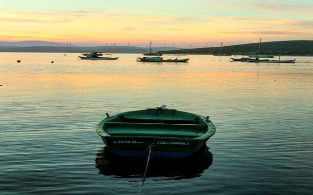 tekne, gün batımı, akşam, deniz