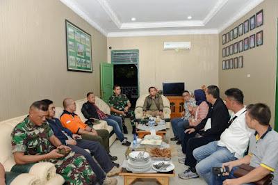 Atasi Bencana, Gubernur Ridho Lakukan Kordinasi Dengan Pangdam 2 Sriwijaya