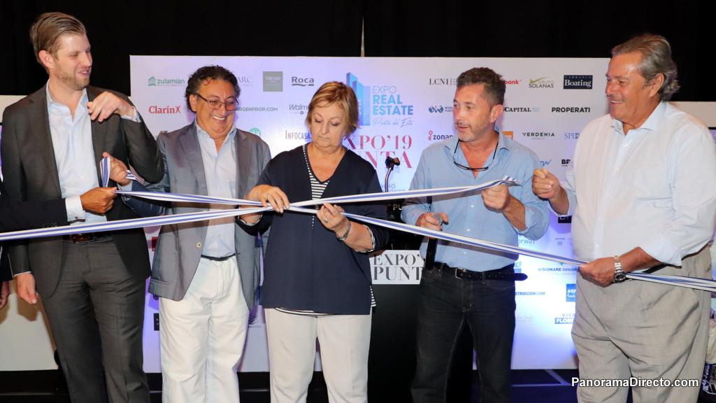 Eric Trump y Enrique Antía en la apertura de la EXPO Real Estate 2019 en Enjoy Punta del Este