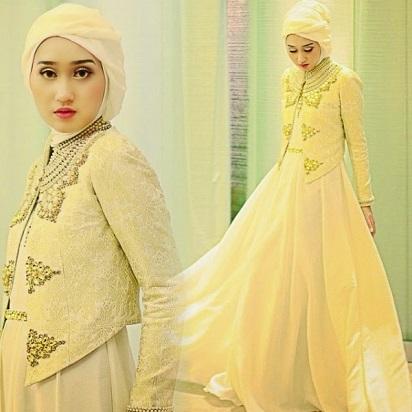 Contoh Desain Baju Gaun Muslim Wanita Terbaru