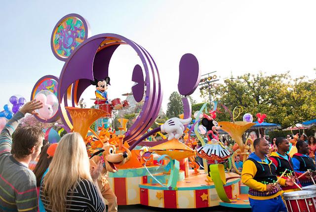 Parque Disneyland na Califórnia: Desfile