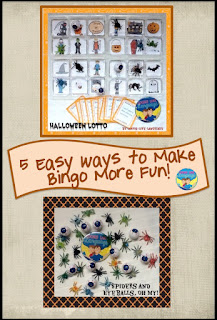 Halloween bingo game variations from Looks-Like-Language!