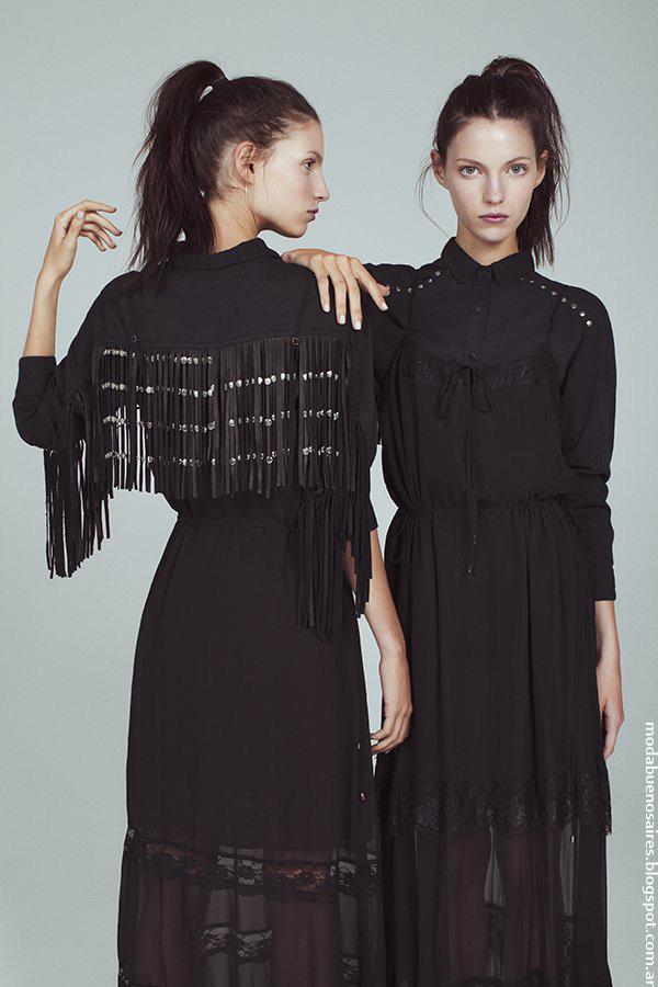 Total black verano 2017 vestidos Kosiuko.