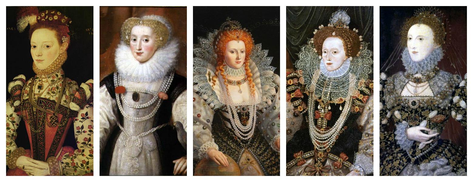 Queen Hairstyles: Elizabethan Hair Adornments