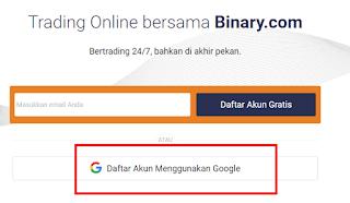 daftar binary dengan gmail