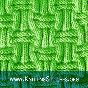 Textured Stitch Pattern. Basket Weave Knitting Pattern. Double Basket Knitting. Basketweave Knit Purl. #knittingstitches #knittingpattern