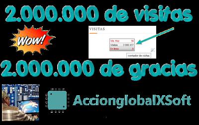 Superados los 2.000.000 de visitantes en AccionGlobalXSoft