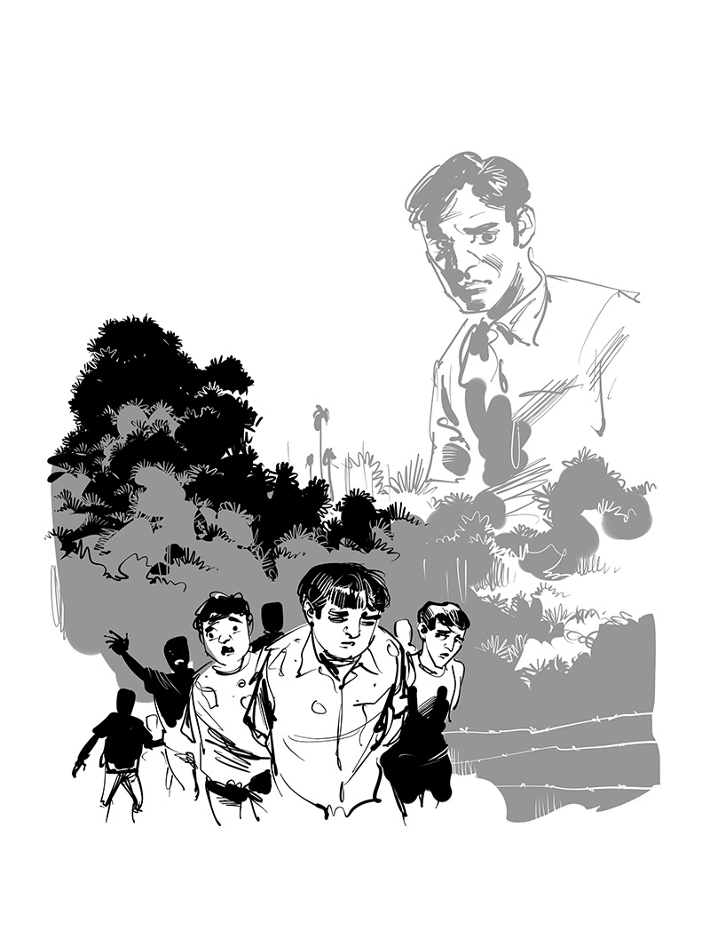 kid's book detective story illustration