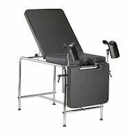 mesa ginecologica soporte piernas tapizada color negro acero