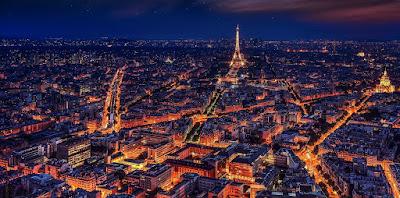 Ciudad de Paris de Noche - Francia