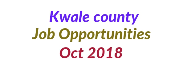Kwale vacancies Oct 2018