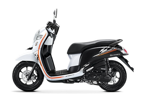 Honda ScoopyP eSP warna Sporty white