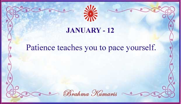 Thought For The Day January 12