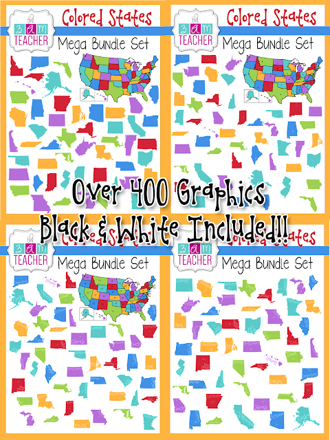 The 3am teacher new us states clipart a discount code a freebie as an added bonus i have a couple of freebies to go along with wither one of the sets click the images below to visit my tpt shop and grab my latest fandeluxe Image collections