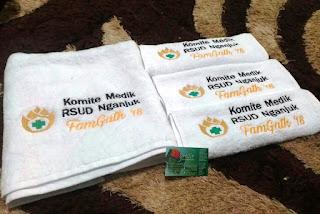 Handuk Bordir Nama Rumah Sakit RSUD Nganjuk
