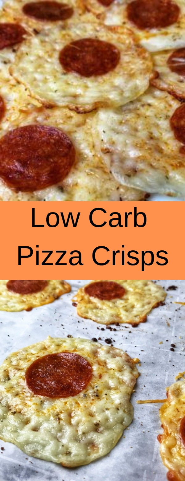 Low Carb Pizza Crisps #lowcarb #glutenfree #pizza #snack