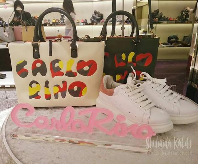 carlo rino,handbag,kasut,fesyen show