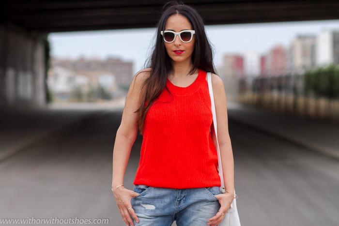 Blogger influencer instagramer de Valencian con ideas para llevar pantalones vaqueros en verano