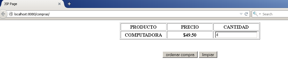 Web Application - Compras