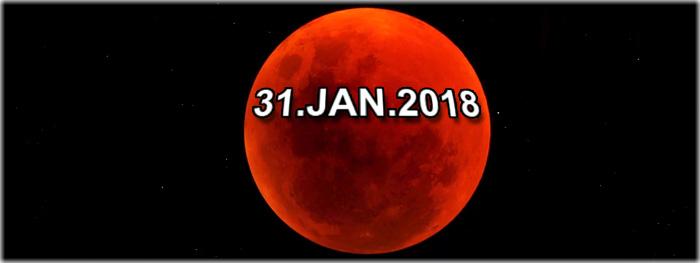 eclipse lunar total com Super Lua e Lua Azul - 31 de janeiro de 2018
