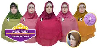 Hijab adiba harga murah dengan model yang stylish