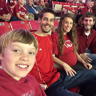 Duggars and Dillards at Razorback game