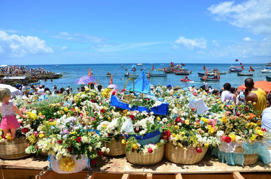 Festividad de Yemanjá en Salvador de Bahía, Brasil