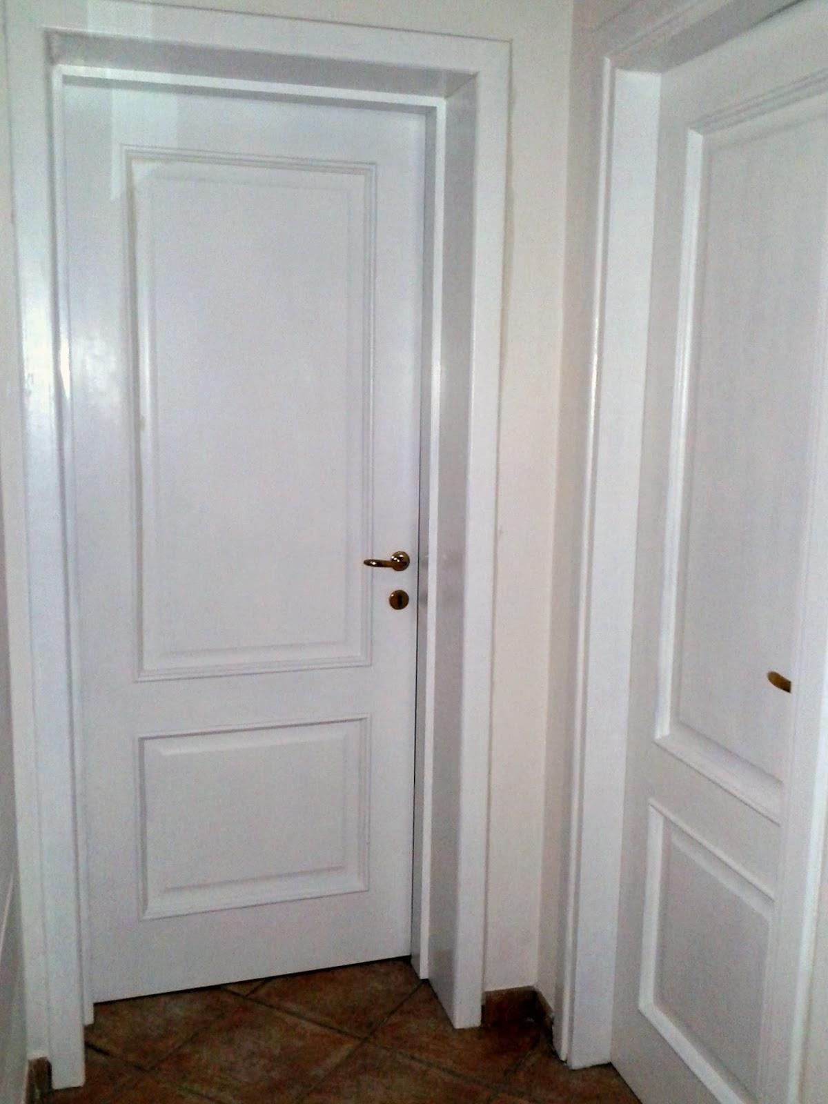 In pigiama come rinnovare le porte di casa - Verniciare una porta in legno ...
