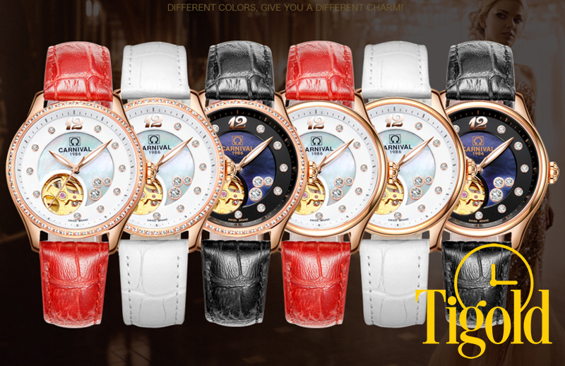 đồng hồ đeo tay nữ carnival đẹp