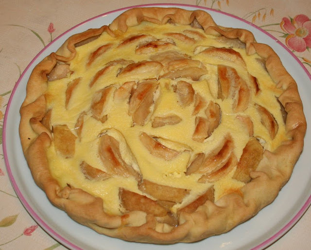 Tarte aux pommes à la migaine