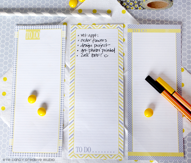 yellow & gray to do list, gift idea for teachers, organized, to do list