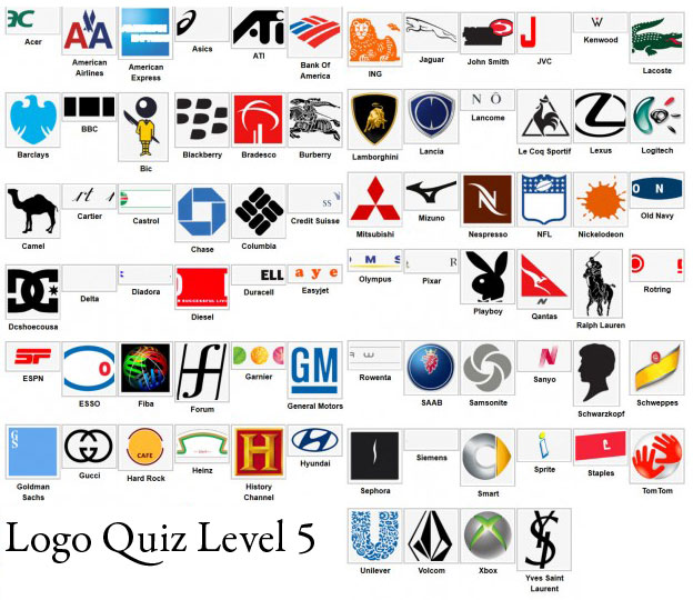 logo quiz answers level 5 type logos