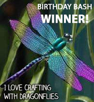 Winner at Crafting With Dragonflies Challenge Blog