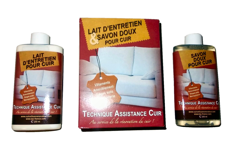 Le coffret d entretien, comprenant un savon doux et un lait pour cuir, il  est destiné au nettoyage et au nourrissage des sièges en cuir, des  intérieurs cuir ... a14bacef6ad