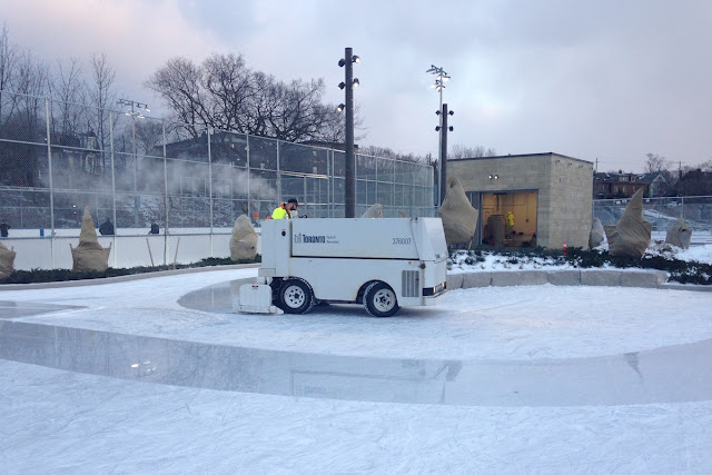 Zamboni on Riverdale Park East skating rink