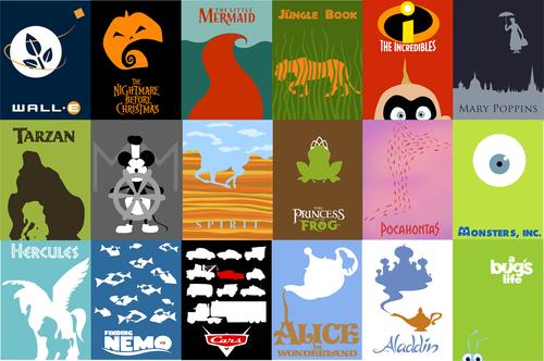 Empire Sims 3 Disney Amp Pixar Minimalist Posters Set By