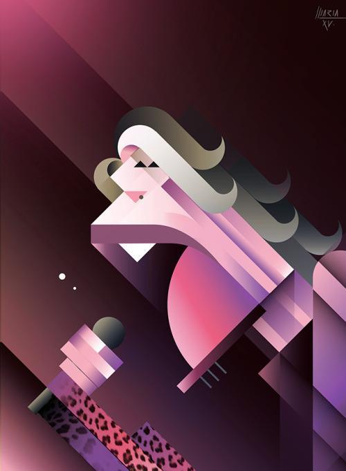 Steven Tyler por Maria Picassó i Piquer