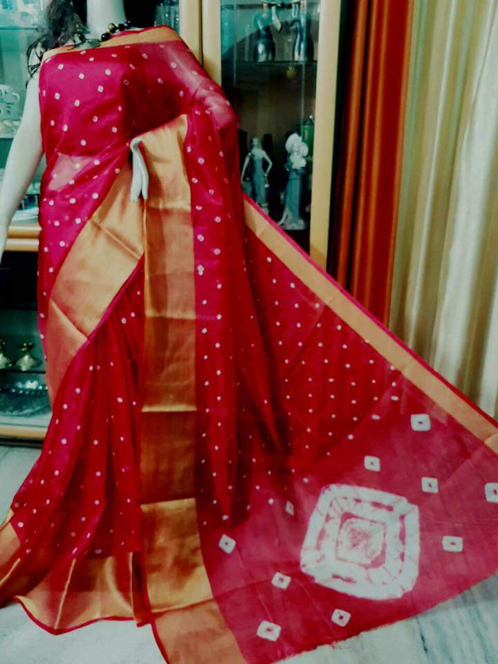 548d30f6e36d5 Here is the exclusive latest sarees collection we have mani pur kota saree  with bhandhini print saree paired with matching blouse in this we have five  ...